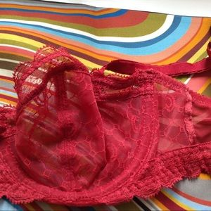 Chantelle Intimates & Sleepwear - Chantelle lace red bra